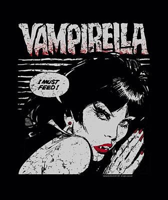 Vampirella Digital Art - Vampirella - I Must Feed by Brand A