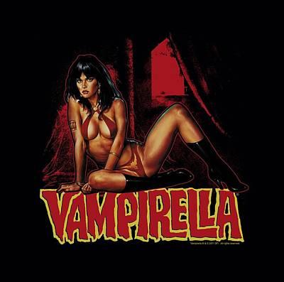 Vampirella Digital Art - Vampirella - In A Dark Room by Brand A
