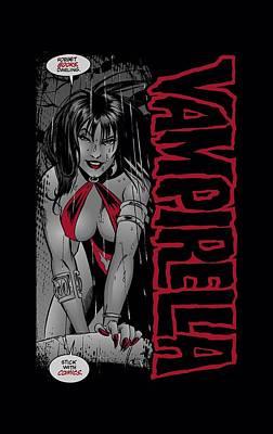 Vampirella Digital Art - Vampirella - Stick With Comics by Brand A
