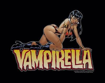 Vampirella Digital Art - Vampirella - Title Crawl by Brand A