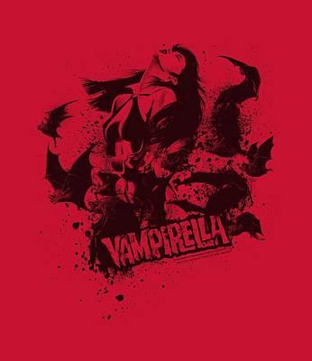 Vampirella Digital Art - Vampirella - Vampire Splat by Brand A