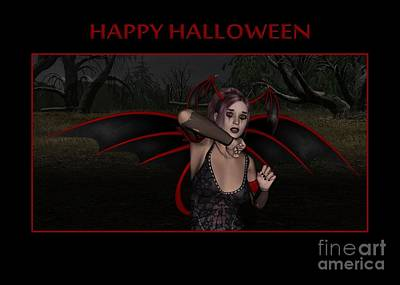 Digital Art - Vampy Halloween by JH Designs