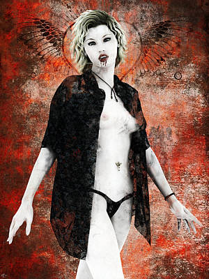Painting - Vampyre Mistress by Maynard Ellis
