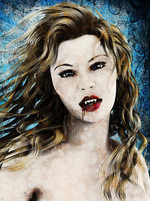 Painting - Vampyre Portrait by Maynard Ellis