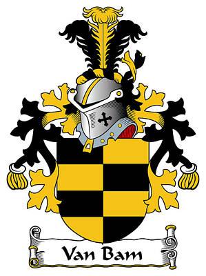 Van Bam Coat Of Arms Dutch Art Print by Heraldry