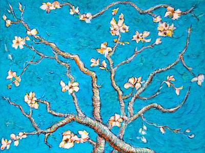 Replica Painting - Van Gogh Almond Blossom Slightly Interpreted by Ion vincent DAnu