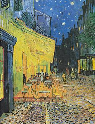 Cafe Terrace Painting - Van Gogh Cafe Terrace At Night 1888 by Movie Poster Prints
