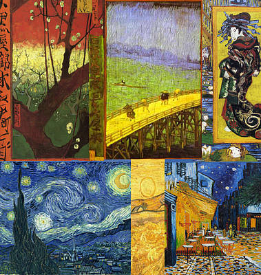 Montage Painting - Van Gogh Collage by Philip Ralley