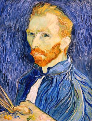 Art Print featuring the photograph Van Gogh On Van Gogh by Cora Wandel
