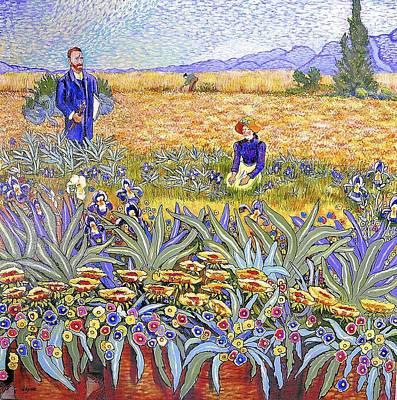 Van Gogh Revisited Print by JAXINE Cummins