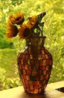Photograph - New Orleans Van Gogh Vase Revisited by Michael Hoard