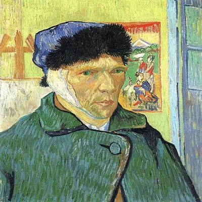 Photograph - Van Gogh Self Portrait by Florene Welebny