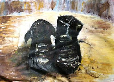 Hong Kong Drawing - Van Gogh Shoes by Eason Chan