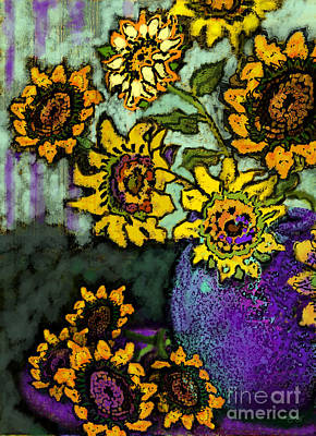 Van Gogh Sunflowers Cover Art Print by Carol Jacobs