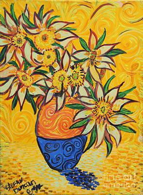 Painting - Van Gogh Vase Series by Stefan Duncan