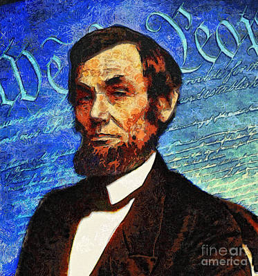 Politicians Royalty-Free and Rights-Managed Images - Van Goghs Abraham Lincoln  by Nishanth Gopinathan