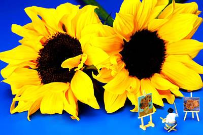 Photograph - Van Gogh's Sunflower Miniature Art by Paul Ge
