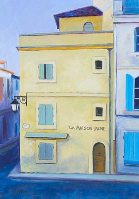 Arles Painting - Van Gogh's Yellow House In Arles by Jan Matson
