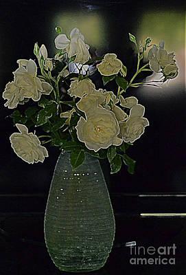 Photograph - Van Gough's White Roses by Diane montana Jansson