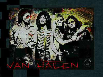 Van Halen Digital Art - Van Halen - Ain't Talkin' 'bout Love by Absinthe Art By Michelle LeAnn Scott