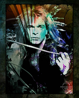 Digital Art - Van Halen - David Lee Roth by Absinthe Art By Michelle LeAnn Scott