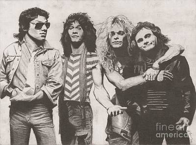Dave Drawing - Van Halen by Jeff Ridlen