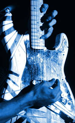 David Lee Roth Photograph - Van Halen Rocks Blue by Ben Upham