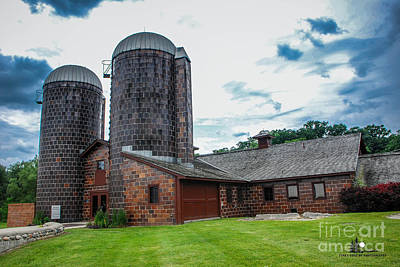 Photograph - Van Hoosen Dairy Barn 2 by Grace Grogan