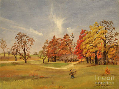 Painting - Van Horn Woods - Illinois 1954 by Art By Tolpo Collection