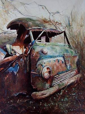Painting - Van In A Wood by David  Poxon