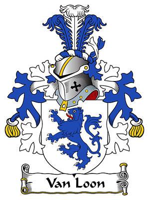 Loon Digital Art - Van Loon Coat Of Arms Dutch by Heraldry
