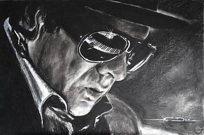 Van Morrison -  Belfast Cowboy Art Print by Eric Dee