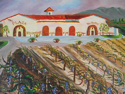 California Vineyard Painting - Van Roekel Winery by Eric Johansen