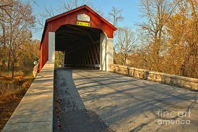Photograph - Van Sant Covered Bridge by Adam Jewell