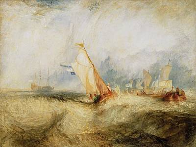 Getty Painting - Van Tromp Going About To Please His Masters by JMW Turner