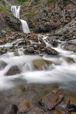 Photograph - Van Trump Falls In Mount Rainier National Park by Bob Noble