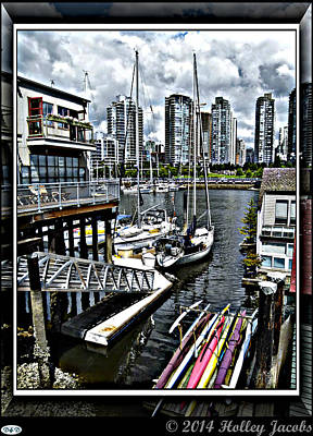 Digital Art - Vancouver 2 by Holley Jacobs