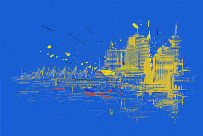 Vancouver Sketch Painting - Vancouver Art 005 by Catf