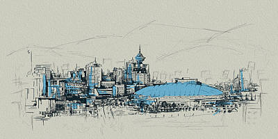 Vancouver Sketch Painting - Vancouver Art 008 by Catf