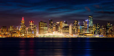 Vancouver At Night Photograph - Vancouver At Christmas by Alexis Birkill