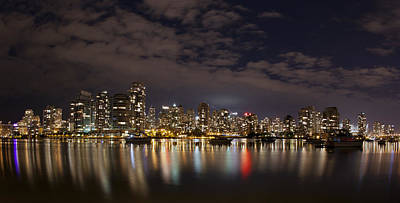 Photograph - Vancouver At Night by Tony Mills