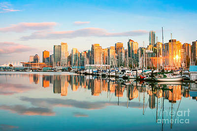 Photograph - Vancouver At Sunset by JR Photography