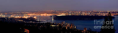 Photograph - Vancouver B.c. Glowing Skyline by Terry Elniski