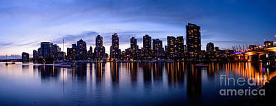 Photograph - Vancouver Bc Skyline By Cambie St. Bridge by Terry Elniski