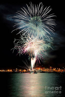 Photograph - Vancouver Canada Day Fireworks 2014 - 1 by Terry Elniski