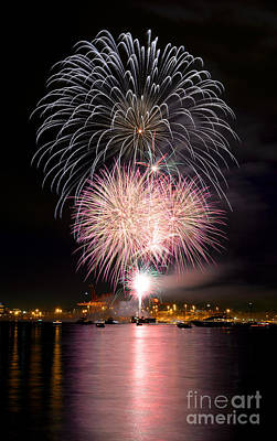 Photograph - Vancouver Canada Day Fireworks 2014 - 3 by Terry Elniski