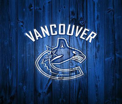 Canadian Sports Mixed Media - Vancouver Canucks Barn Door by Dan Sproul
