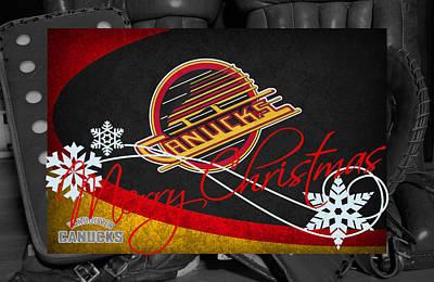 Vancouver Canucks Christmas Art Print by Joe Hamilton