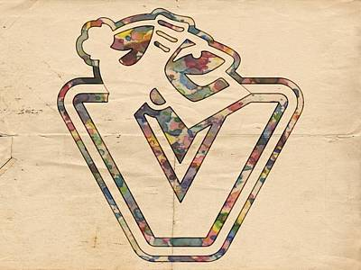 Painting - Vancouver Canucks Old Style Logo by Florian Rodarte