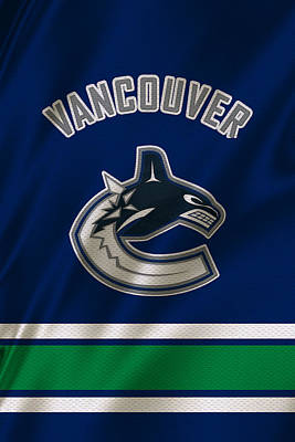 Vancouver Canucks Uniform Art Print by Joe Hamilton